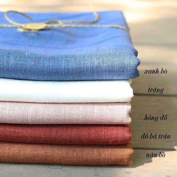 vải đũi linen xước